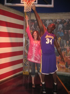 I nearly blocked Shaq's shot...true story (kind of).